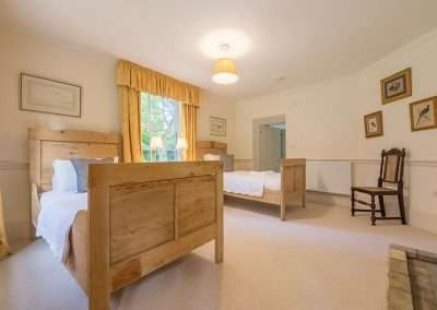 Twin bedroom at Bear's Cottage holiday accommodation in rural Norfolk