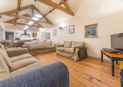 The stunning open plan living area at Bear's Cottage holiday cottage in Norfolk