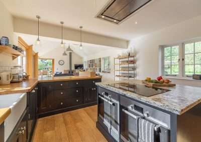 Modern kitchen at Gardener's Cottage holiday accommodation in Norfolk