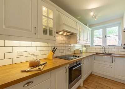 The modern kitchen at Park Cottage holiday cottage in Norfolk