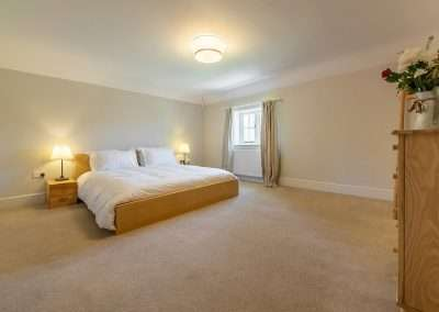 Spacious double bedroom at Park Cottage luxury holiday accommodation in Norfolk