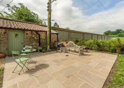 Potting Shed BBQ area with glorious Norfolk countryside views