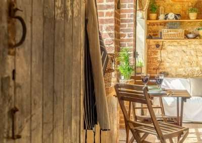 Rustic features at the Potting Shed