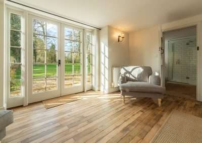 A peaceful, sunny spot at Market Square House, a secluded holiday cottage in Norfolk