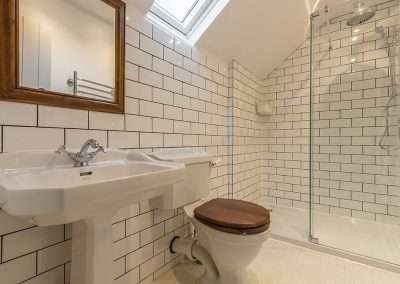 Luxury shower room at Market Square House holiday cottage in Norfolk