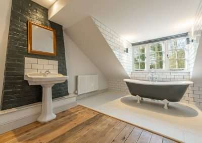 Beautiful bathroom at Market Square House luxury holiday cottage in Norfolk