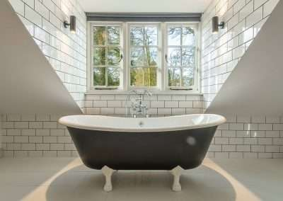 Free-standing bath at Market Square House holiday cottage in Fring