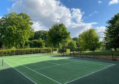 The tennis court at Fring Estate is available for our holiday cottage visitors to use during their stay in Norfolk