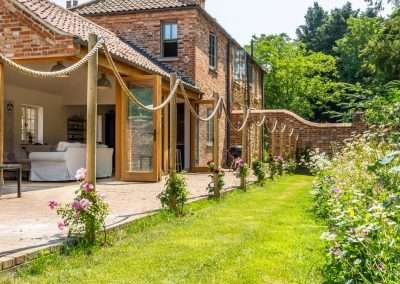 holiday cottage with bifold doors